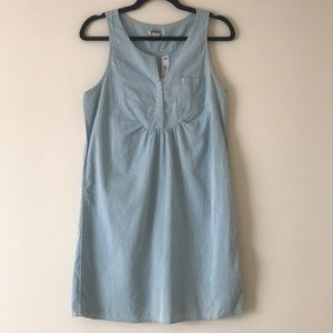Quiksilver blue striped sleeveless dress
